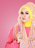Portrait of beautiful woman wearing hijab Stock Image