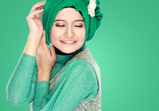 Portrait of beautiful woman wearing hijab Royalty Free Stock Images