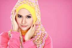 Portrait of beautiful woman wearing hijab Royalty Free Stock Photo