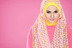 Portrait of beautiful woman wearing hijab Royalty Free Stock Image