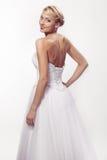 Portrait of beautiful woman in wedding dress Stock Photos