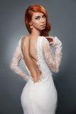 Portrait of beautiful woman in wedding dress Stock Photo
