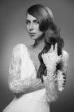 Portrait of beautiful woman in wedding dress Stock Photography