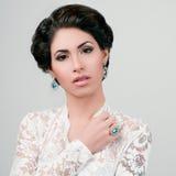 Portrait of Beautiful Woman Wedding Model stock images