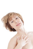 Portrait of the beautiful woman Royalty Free Stock Image