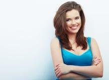 Portrait of Beautiful Woman. White background. Stock Photography