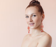 Portrait of a beautiful woman. Royalty Free Stock Image