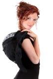 Portrait beautiful women black dress Stock Photo