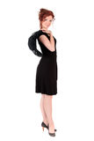Portrait beautiful women black dress Stock Photos