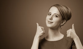 Portrait of a beautiful women. Royalty Free Stock Image