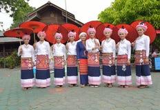 Portrait beautiful women Tai Lue. Royalty Free Stock Photography