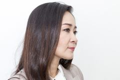 Portrait of beautiful 40-50 years. Businesswomen working royalty free stock image