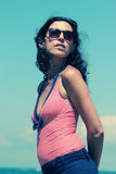 Portrait of beautiful 35 years old woman Royalty Free Stock Images