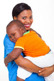 African nurse baby Royalty Free Stock Image