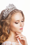 Portrait of beautiful young arrogant bride - Royalty Free Stock Photo