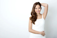 Portrait of beautiful young asian woman Stock Photography