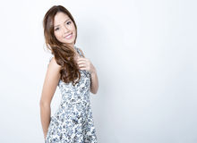 Portrait of beautiful young asian woman Stock Photos