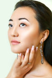 Portrait of beautiful young asian woman.  Natural  make-up. Royalty Free Stock Image
