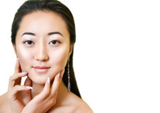Portrait of beautiful young asian woman.  Natural  make-up. Stock Photography