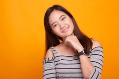 Portrait of beautiful young Asian woman Royalty Free Stock Images