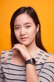 Portrait of beautiful young Asian woman Stock Images
