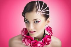 Woman make up beauty Stock Images