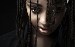 Portrait of a beautiful young black woman Royalty Free Stock Photo