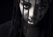 Portrait of a beautiful young black woman Stock Photography