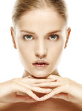 Portrait of beautiful young blond woman with clean face Royalty Free Stock Photography