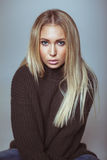 Portrait of beautiful young blond woman Royalty Free Stock Images