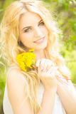 Portrait of a beautiful young blonde woman Royalty Free Stock Image