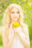 Portrait of a beautiful young blonde woman Royalty Free Stock Photography