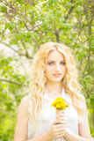 Portrait of a beautiful young blonde woman Royalty Free Stock Photo