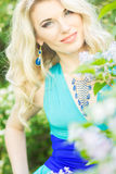 Portrait of a beautiful young blonde woman with long hair Royalty Free Stock Photography