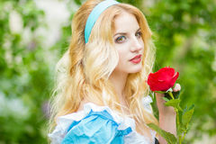 Portrait of a beautiful young blonde Royalty Free Stock Images