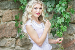 Portrait of a beautiful young blonde woman Stock Photography