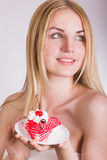 Portrait of a beautiful young blonde woman Royalty Free Stock Images