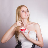 Portrait of a beautiful young blonde woman Stock Image