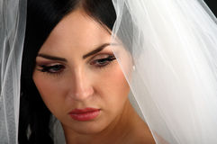 Portrait of a beautiful young bride Royalty Free Stock Photos