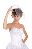 Portrait of the beautiful young bride Stock Photos