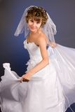 Portrait of the beautiful young bride Stock Photo