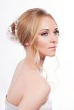 Portrait of beautiful young bride Stock Photo