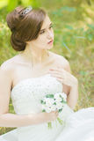 Portrait of a beautiful young bride Royalty Free Stock Photography