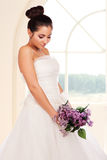 Portrait of beautiful young bride Royalty Free Stock Images