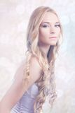 Portrait of beautiful young bride Royalty Free Stock Photography
