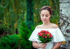 Portrait of beautiful young bride Royalty Free Stock Photo