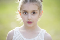 Gorgeous young girl. A portrait of a beautiful young brown eyed girl stock image