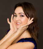 Portrait of beautiful young brunette Royalty Free Stock Photos