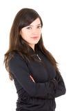 Portrait of beautiful young brunette girl posing Stock Photo