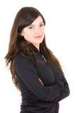 Portrait of beautiful young brunette girl posing Stock Image